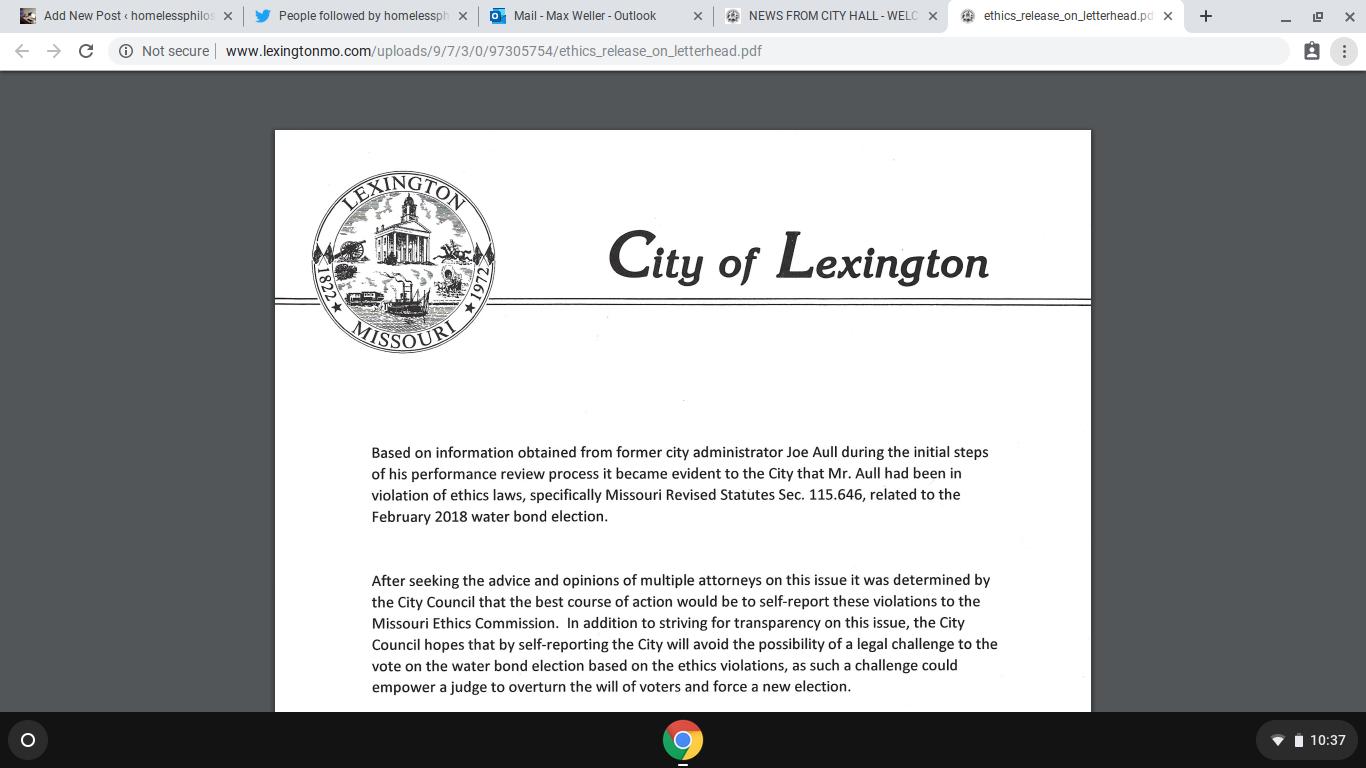 Lexington, MO politics is still FUBAR | homelessphilosopher